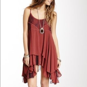 Free People Lace Embroidered slip dress